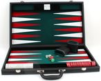 leatherette backgammon case large - green field including engraving Image 2