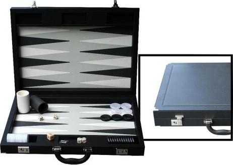 Großer Backgammon Koffer von Dal Negro - Italien, schwarz