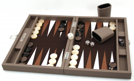 Backgammon BUFFALO B20L Terre Medium, Alcantara Spielfeld, Hector Saxe, Paris