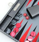 Backgammon COSMOS B49L Grau Medium, Alcantara, Hector Saxe, Paris