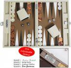 Backgammon CARBONE B21L Medium Hector Saxe Paris mit Gravur, Geschenk Idee