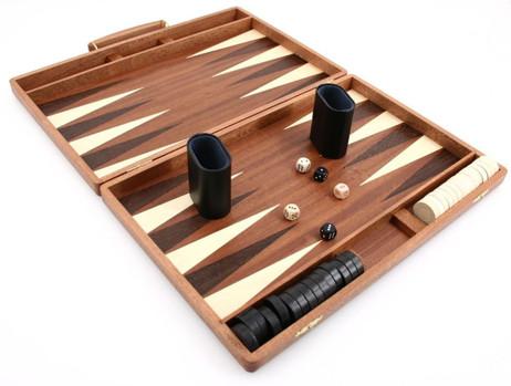 Precious wood backgammon case mahagany - Weible