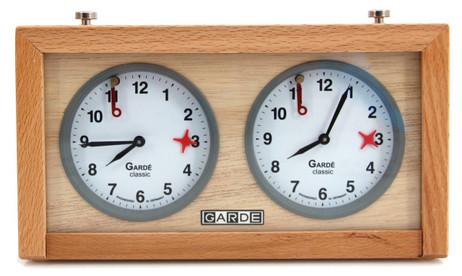 GARDE classic, wood chess clock