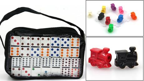 MEXICAN TRAIN Pro Doppel 12 Domino mit Loks Trend Spiel, 91 Spielsteine