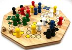 Double-sided Ludo XL board for 4 or 6 players, steady quality Image 3