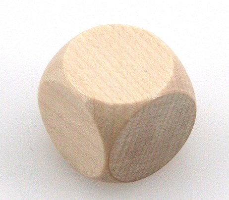 Wooden Dice, 20 mm, blank