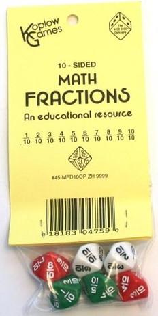 Edukation - Mathematik - Würfel - Set für Unterricht, 6 Würfel mit Brüchen