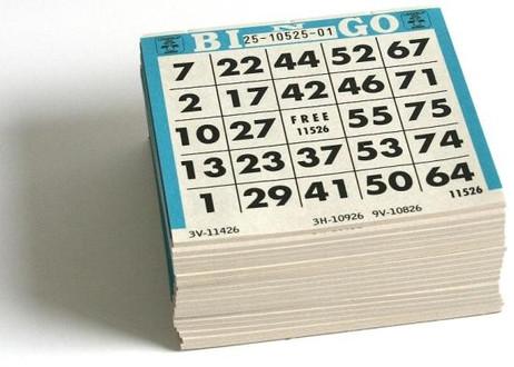 Bingo Karten, Ticket - Block, für 1-75 Bingo Spiel
