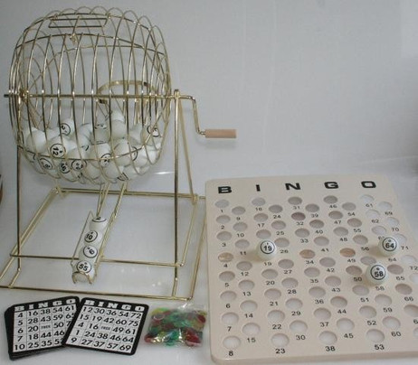 Large Bingo Game, 50 cm, complete with accessories