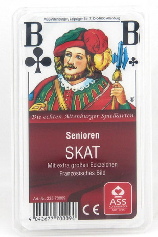 SENIOREN SKAT Franz. Bild ASS Qualität Spielkarten
