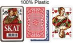 SKAT 100% plastic, french picture, 32 cards