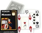 POKER 4J Black by MODIANO, 100% plastic, 4 Jumbo Index, ohne Rand!