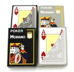 4 Decks POKER 4J Gray by MODIANO, 100% plastic, 4 Jumbo Index, ohne Rand!