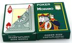 2 pieces of POKER by MODIANO, 100% plastic, 4 Jumbo Index, green coloured