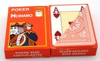 2 pieces of POKER by MODIANO, 100% plastic, 4 Jumbo Index, orange coloured