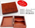 Dekorative Holz Spielkartenkassette, mit individueller Gravur die Geschenk Idee