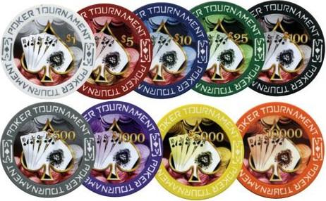 POKER TOURNAMENT Clay Pokerchips