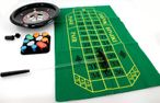 Deluxe Bakelite Roulette Set with 12 inch roulette wheel, cloth, rake, chips Image 4