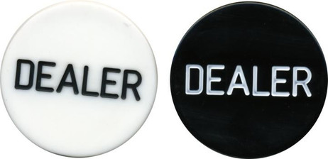 Dealer Button from plastic