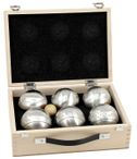 OBUT 6-SET, Leisure time Boules in the wood case, with engraving Image 5