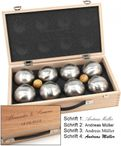 OBUT K8, 8 Boule Kugeln MADE IN FRANCE, Geschenk Idee- Holzkoffer mit Gravur Bild 5