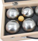 OBUT 8-SET, Leisure time Boules in the wood case, with engraving Image 4