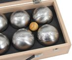 OBUT 8-SET, Leisure time Boules in the wood case, with engraving Image 3