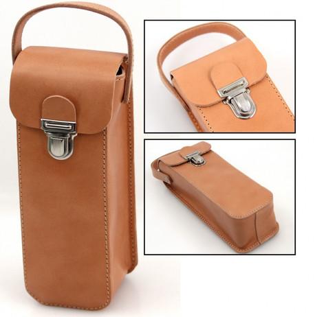 Boule Leder Tasche, Premiumprodukt aus Vollrindleder für 3 Boule Kugeln