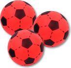 3 Stück Soft Ball rot - schwarz aus Schaumstoff von Ludomax