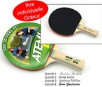 Tabletennis Bat Atemi 100 slick/slick concave with engraving