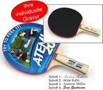 Tabletennis Bat Atemi 200 slick/slick, concave with engraving