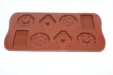 Choco Biscuits - Eiswürfel / Deko - Pralinenform aus Silikon – Bild 4