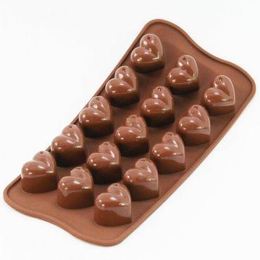 Herzen - 150 ml - Eis Deko - Pralinenform aus Silikon – Bild 1