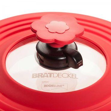 Kleiner Bratdeckel / Bratendeckel Edition Kochblume - Spritzschutz – Bild 2