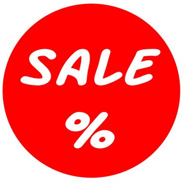 Sale % Werbeaufkleber 30cm