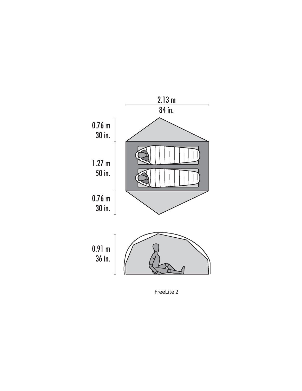 MSR - Freelite 2 V2 (2018) - Rucksackzelt für 2 Personen *inkl. Footprint* – Bild 7
