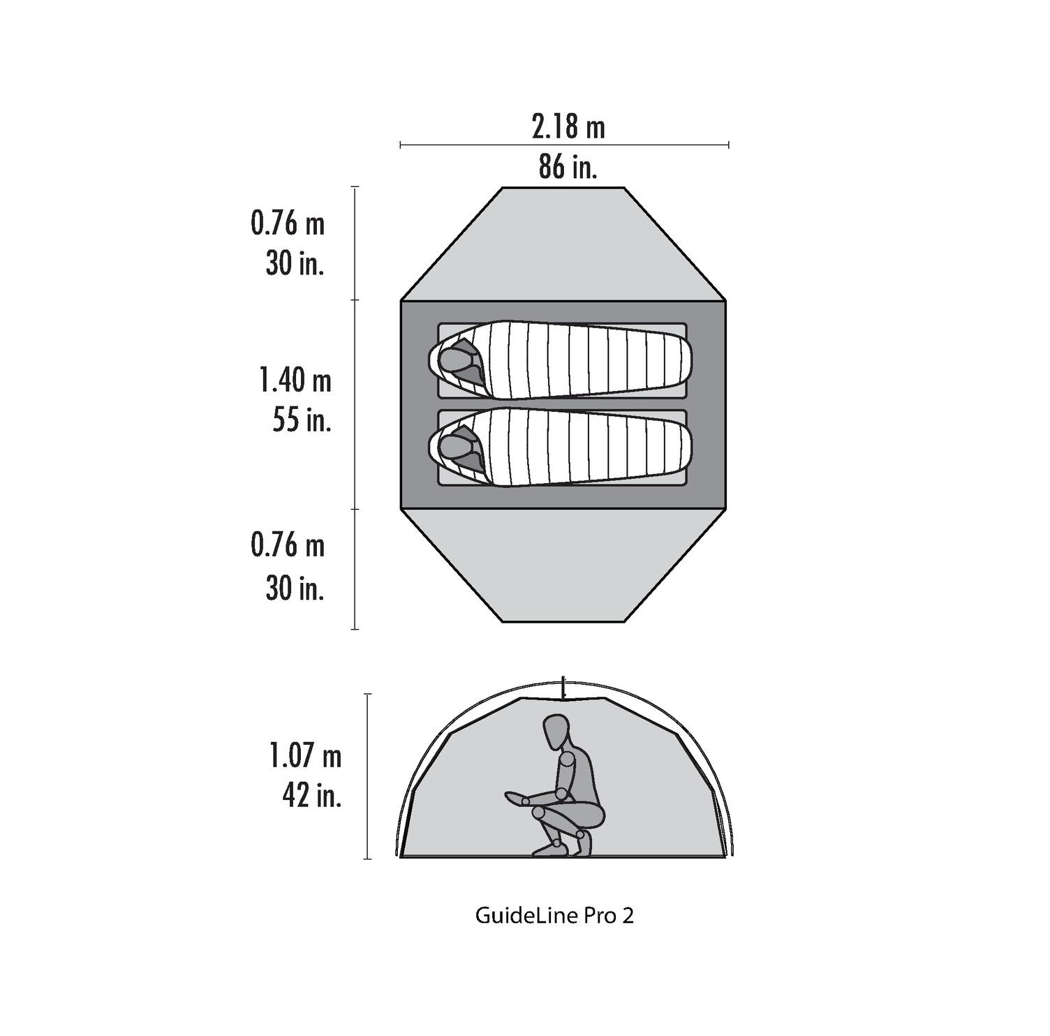 MSR - Guideline Pro 2 - robustes 2-Personen-Zelt *inkl. Footprint* – Bild 6