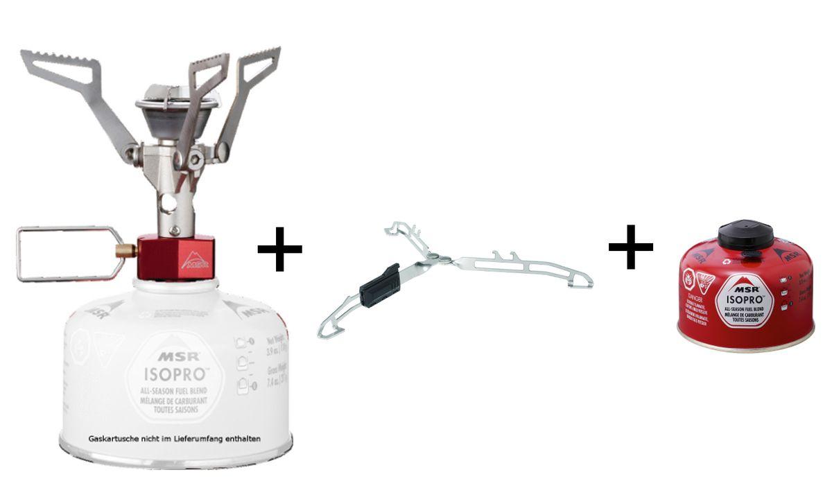MSR - PocketRocket 2  Gas-/Kartuschenkocher *inkl. Cansister Stand und Iso Pro*