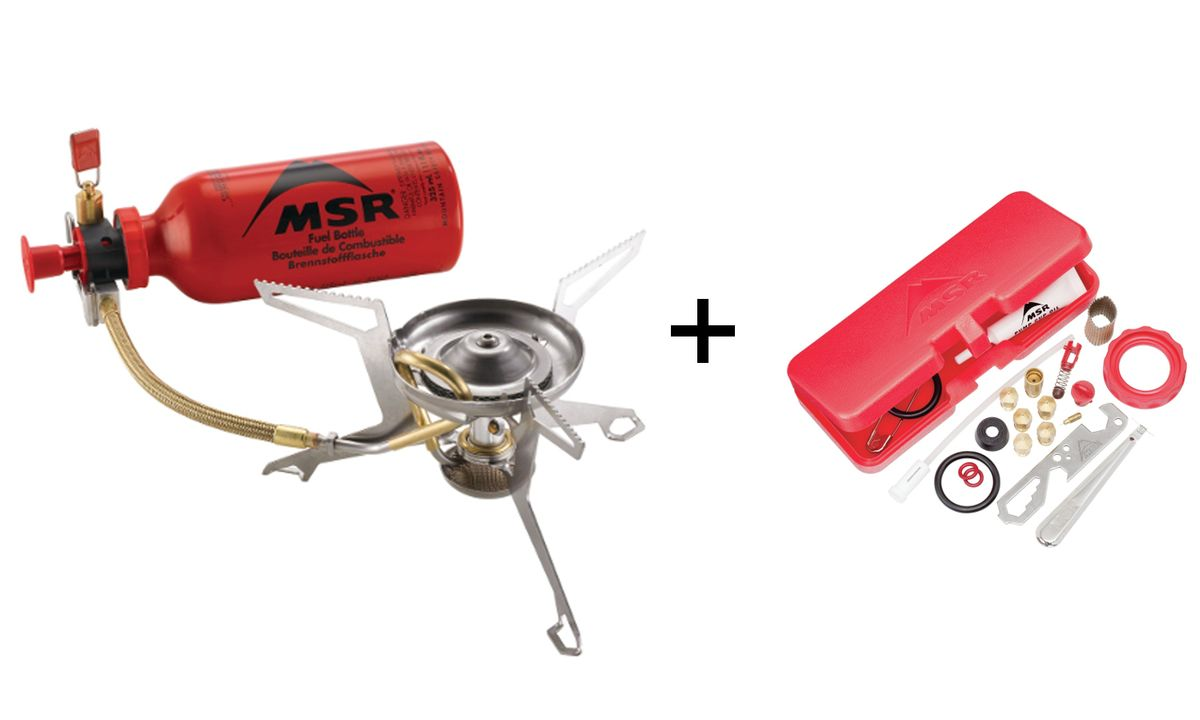 MSR - Whisperlite International Combo Mehrstoffkocher mit 0,6 Liter Brennstoffflasche *inkl. ExpeditionsKit*