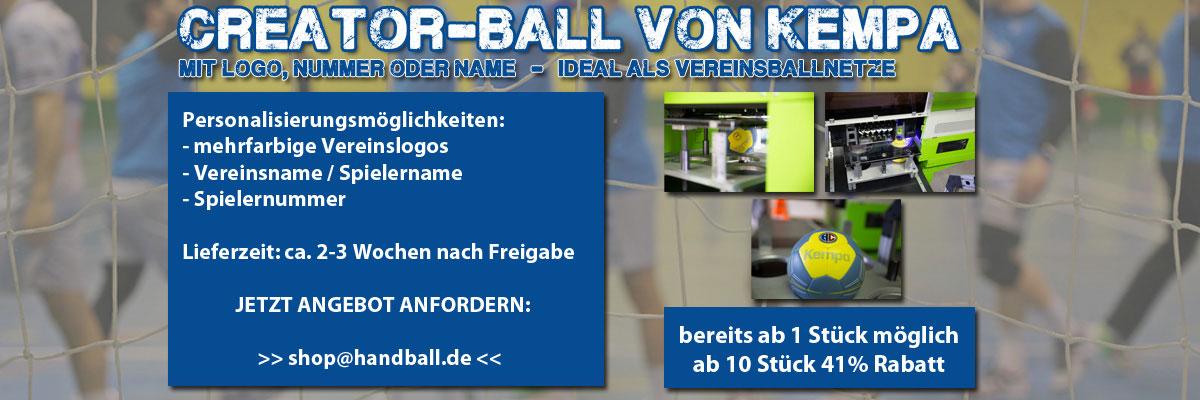 Handball mit Vereinslogo