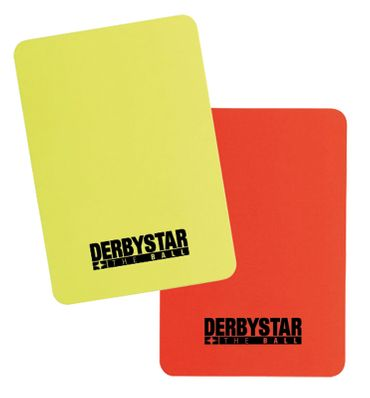 Derbystar Schiedsrichterkarten