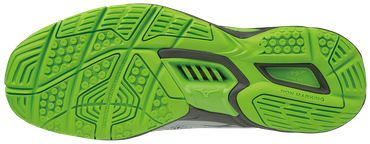 Mizuno Handballschuh WAVE STEALTH V High-rise / Black / Jasmine Green – Bild 2