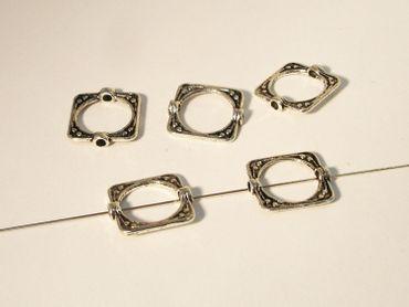 Metallperlen - Rahmenperle - Verbinder, 15mm, Silber, 3 Stück #U4