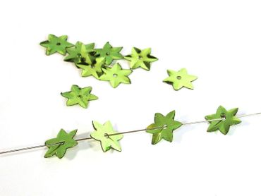 Pailletten Stern, 11mm Grün, 200 Stück #K103