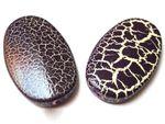 Effekt Perlen XXL Designer Perlen, Violett krakeliert, 2 Stück #UU36