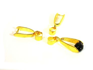 Anhängerschlaufen, 27x8mm, Gold, 3 Stück #Z76