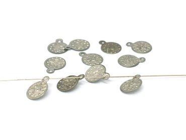 Metallperlen - Deko - Bauchtanz, Münze, Silber, 30 Stück #J1