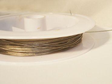 Schmuckdraht Stahlseide Schmuckdraht, 0,35mm, Silber, 5 Meter #SDS035