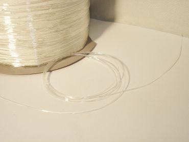 Elastikband Elastikfaden Fädelmaterial, 0,6mm, Stretch transparent, 5 Meter #EB06