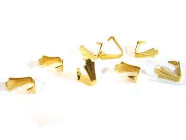 Anhängerschlaufen Anhängerklauen Triangel Gold, 4 Stück #Z251